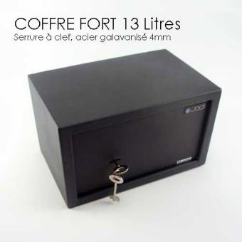 petit coffre fort clef 13l top prix fnac. Black Bedroom Furniture Sets. Home Design Ideas
