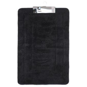 tapis de salle de bain 60 x 90 cm noir achat prix fnac. Black Bedroom Furniture Sets. Home Design Ideas
