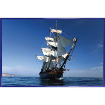 poster encadr pirates bateau voiles iii 61x91 cm cadre plastique bleu top prix sur. Black Bedroom Furniture Sets. Home Design Ideas
