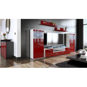ensemble de 3 meubles tv blanc et bordeaux achat prix fnac. Black Bedroom Furniture Sets. Home Design Ideas