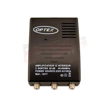 Amplificateur d 39 int rieur terrestre tnt 2 sorties tv for Amplificateur tv interieur
