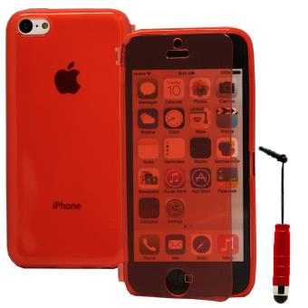 coque silicone gel livre rabat mini stylet pour apple iphone 5c rouge achat prix fnac. Black Bedroom Furniture Sets. Home Design Ideas