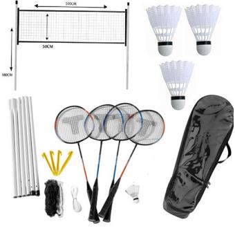 Jeu kit de badminton 4 joueurs ext rieur plein air filet for Filet badminton exterieur