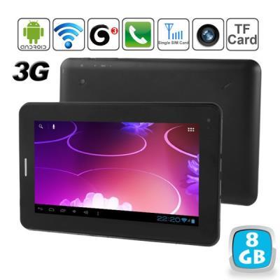 Une tablette tactile 3G Android 7 pouces qui vous permet d´être toujours connecté même en mobilité. Cette tablette tactile est l´équivalent d´un smartphone un peu plus grand que la normale ! En effet ce terminal mobile dispose d´un emplacement pour carte