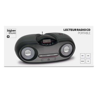 lecteur cd radio mp3 usb portable noir et gris achat. Black Bedroom Furniture Sets. Home Design Ideas