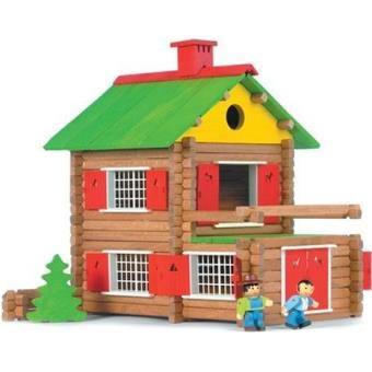 Jeujura chalet suisse achat prix fnac for Jeu de construction en bois 4 ans