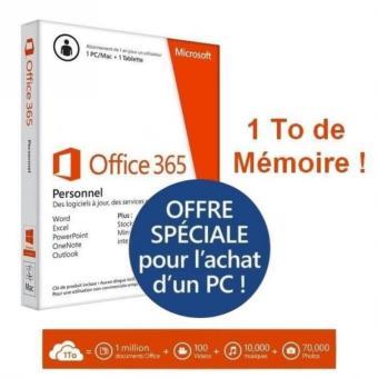 microsoft office 365 personnel 1 pc mac tablette abo 1an achat prix fnac. Black Bedroom Furniture Sets. Home Design Ideas