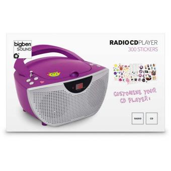 lecteur radio cd portable violet 300 stickers achat. Black Bedroom Furniture Sets. Home Design Ideas