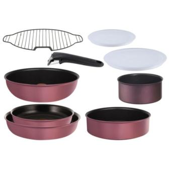 set de po les casseroles tefal set 9 pi ces ingenio ptfe induction rose achat prix fnac. Black Bedroom Furniture Sets. Home Design Ideas