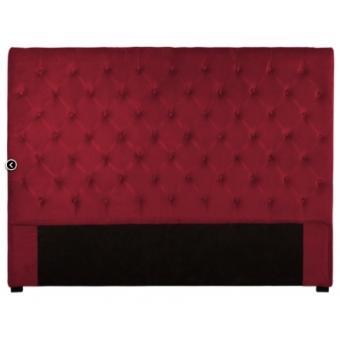 t te de lit 160 cm velours rouge achat prix fnac. Black Bedroom Furniture Sets. Home Design Ideas