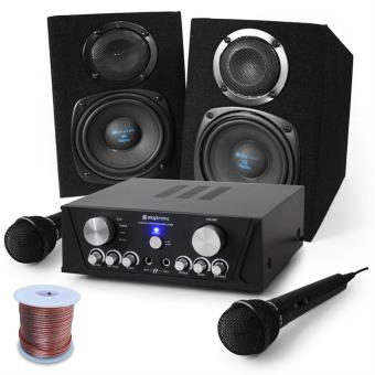 "Set Karaoke ""Capri Star"" enceintes, micro, 400W Fnac.com"