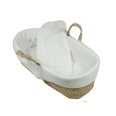 Couffin en osier et coton biologique Blanc pour 142€