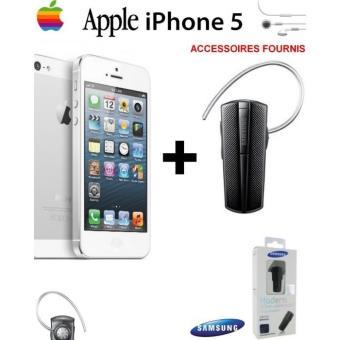 et Accessoire Apple iPhone 5 16 Giga Reconditionné + HM1200