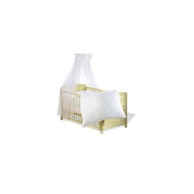 Pinolino - Parure lit bébé - 4 pièces - 120x60cm ou 140x70cm - Blanc pour 180€