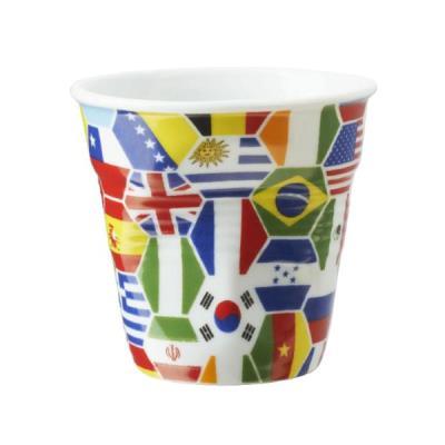 Image du produit 6 Tasses froissées expresso Drapeaux Multi-Nations Revol 8 cl