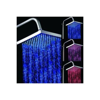 pommeau de douche lumineux led indicateur de temp rature carr top prix fnac. Black Bedroom Furniture Sets. Home Design Ideas