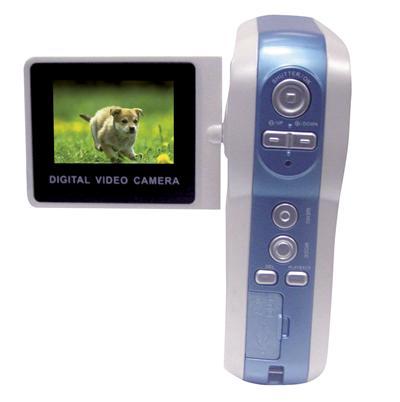 2 Méga pixel, écran 1.5 pouces, vidéo format MPEG 4, microphone/speaker, mémoire 32MB plus carte slots, TV (NTSC/PAL). Dimensions : 67.5x105x33 mm, livré avec logiciel de photos. 4 piles AAA. Coloris assortis