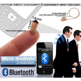 micro oreillette sans fil bluetooth smartphone achat prix fnac. Black Bedroom Furniture Sets. Home Design Ideas