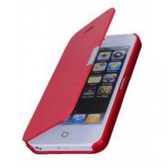 iphone 5 5s etui flip cover rouge achat prix fnac. Black Bedroom Furniture Sets. Home Design Ideas