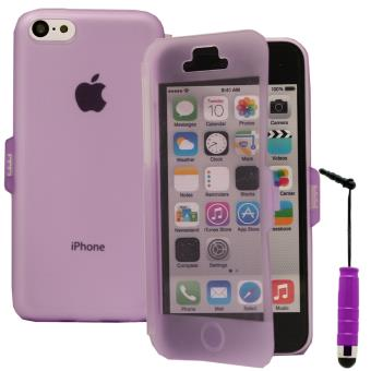 coque silicone gel livre rabat mini stylet pour apple iphone 5c violet achat prix fnac. Black Bedroom Furniture Sets. Home Design Ideas