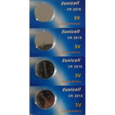 EUNICELL - Lot de 4 PILES Lithium CR2016 3 volts