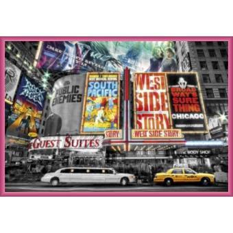 poster encadr new york publicit broadway 61x91 cm cadre plastique pink top prix sur. Black Bedroom Furniture Sets. Home Design Ideas