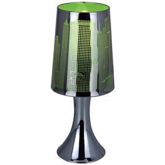 lampe de chevet sensitive tactile 3 intensit s new york vert achat prix fnac. Black Bedroom Furniture Sets. Home Design Ideas