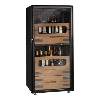 cave vin de service 2 temp 150 bouteilles noir vinosafe aci vsf42m vnl pose libre. Black Bedroom Furniture Sets. Home Design Ideas