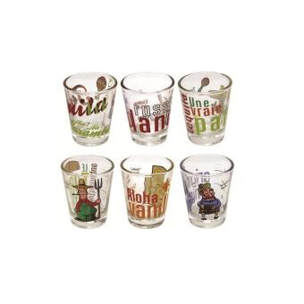 verres shot coffret 6 verres shooters 6 cl achat prix fnac. Black Bedroom Furniture Sets. Home Design Ideas