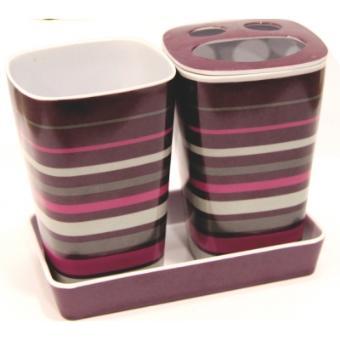 Pot salle de bain multicolore couleur gris achat for Pot salle de bain