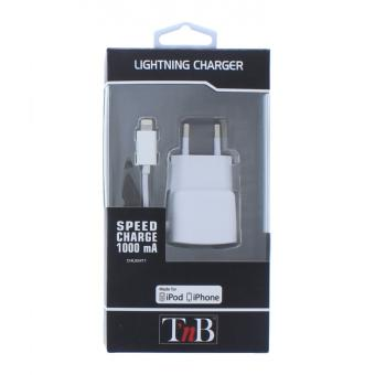 chargeur secteur lightning 1a iphone 5 ipod nano 7 ipod. Black Bedroom Furniture Sets. Home Design Ideas