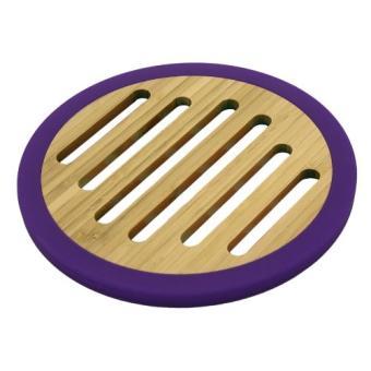 totally bamboo ba206650 dessous de plat bambou silicone violet 20 cm achat prix fnac. Black Bedroom Furniture Sets. Home Design Ideas