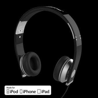 accutone casque pisces band noir pour iphone ipod ipad. Black Bedroom Furniture Sets. Home Design Ideas