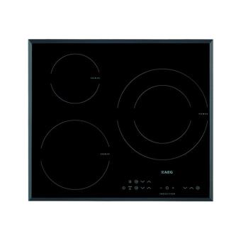 aeg hk633220fb table de cuisson induction 60 cm noir vitroc ramique avec c t s. Black Bedroom Furniture Sets. Home Design Ideas