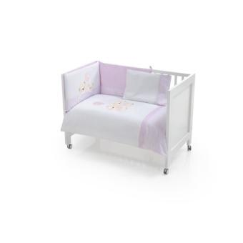 interbaby 91176 set de 3 pi ces couette tour de lit coussin pour lit rose 60x120. Black Bedroom Furniture Sets. Home Design Ideas