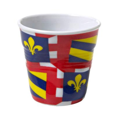 Image du produit 6 tasses froissées expresso drapeau Bourgogne Revol 8 cl