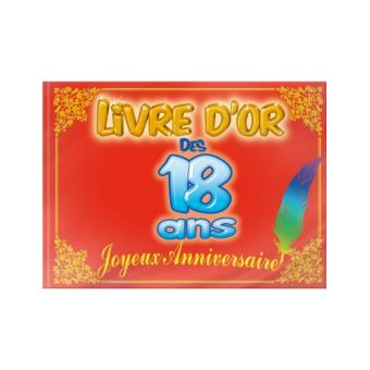 livre d 39 or anniversaire 18 ans achat prix fnac. Black Bedroom Furniture Sets. Home Design Ideas