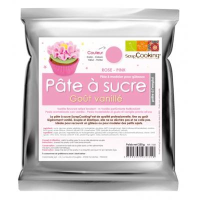 Image du produit Pâte à sucre parfumée à la vanille, ScrapCooking (Violet pastel)
