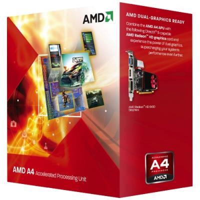 AMD A4-3300 APU with Radeon HD 6410D, 2.5 GHz, FM1