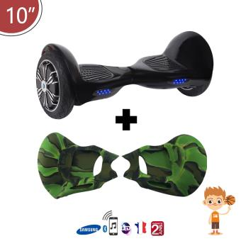 hoverboard noir 10 coque silicone camouflage tout. Black Bedroom Furniture Sets. Home Design Ideas