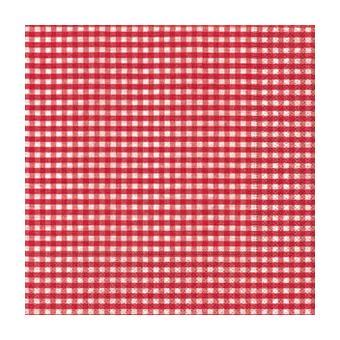 serviette papier vichy rouge paper design achat prix fnac. Black Bedroom Furniture Sets. Home Design Ideas