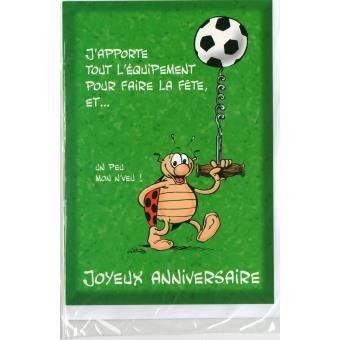 Carte d 39 anniversaire enfant gouter sportif football - Decoration football pour anniversaire ...