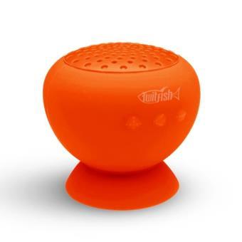 twitfish mushroom enceinte portable bluetooth ventouse pour smartphones et tablettes orange. Black Bedroom Furniture Sets. Home Design Ideas