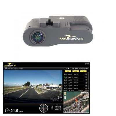 La Dashcam Roadhawk DC-2 est une caméra embarquée pour véhicule munie d´une puce GPS et d´un gyroscope 3D qui enregistre automatiquement vos déplacements. C´est votre témoin objectif en cas de collision ou d´accident qui peut également devenir un outil d´