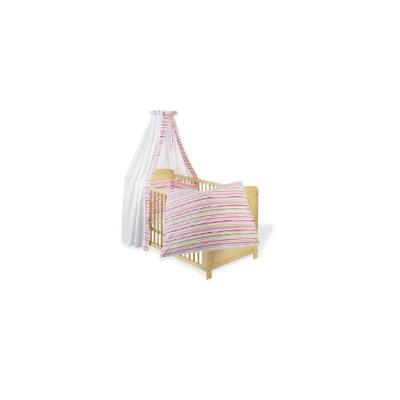 Pinolino - Parure lit bébé - 4 pièces - 120x60cm ou 140x70cm - Rose et vert pour 165€