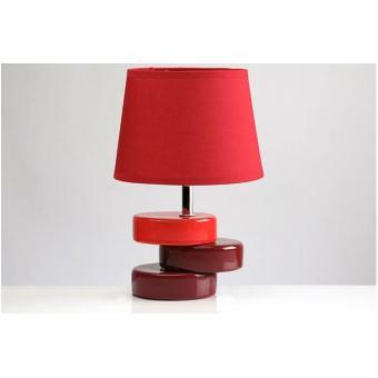 lampe poser socle d cal rouge achat prix fnac. Black Bedroom Furniture Sets. Home Design Ideas