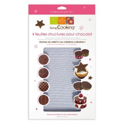 Image du produit Feuilles structure pour chocolat, Scrapcooking