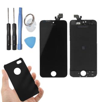 vitre tactile ecran lcd sur chassis pour iphone 5 noir. Black Bedroom Furniture Sets. Home Design Ideas
