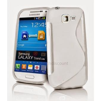 mp Housse etui coque silicone gel pour Samsung Galaxy Trend Lite s film ecran BLANC w