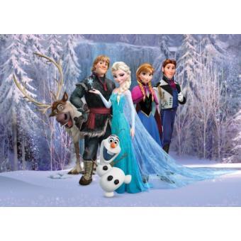 la reine des neiges papier peint photoposter personnages olaf sven anna kristoff elsa hans 115x160 cm top prix fnac